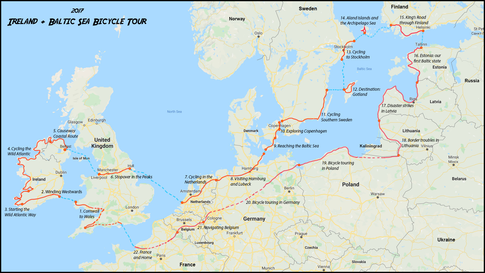 Baltic Sea Cycle Tour Recap