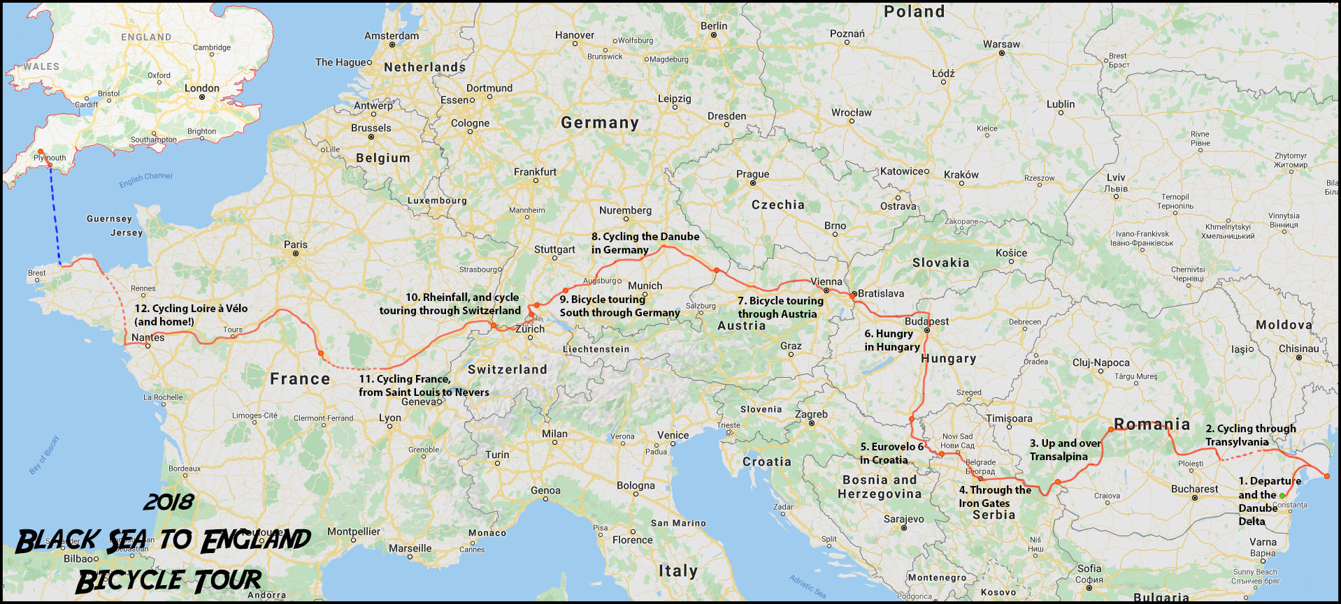 Black Sea to England Cycle Tour Recap