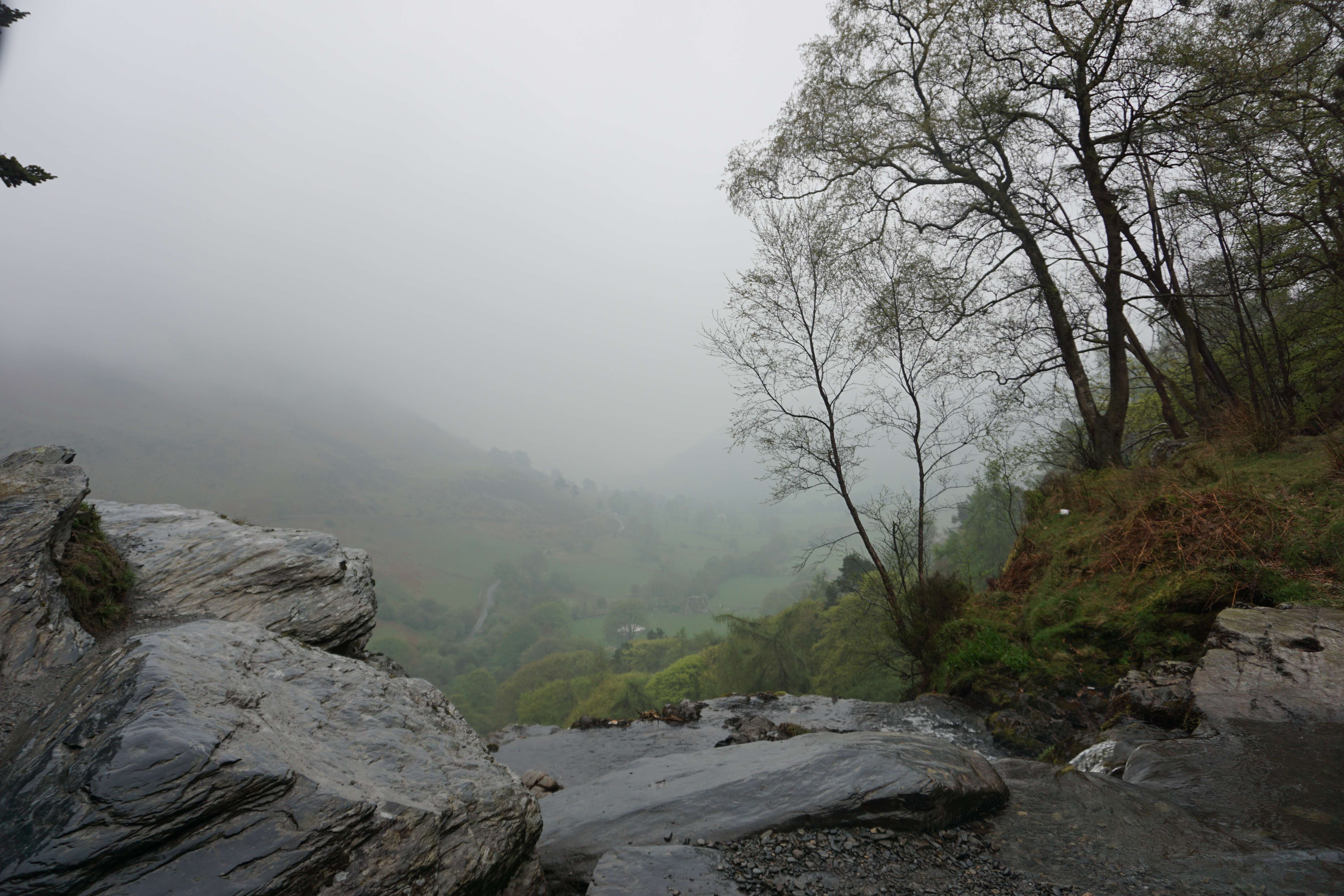 A rainy walk to Pistyll Rhaeadr waterfall