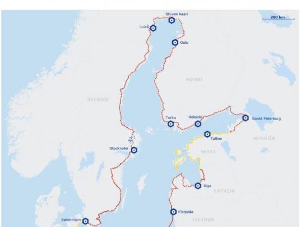 The Baltic Sea cycle tour plan