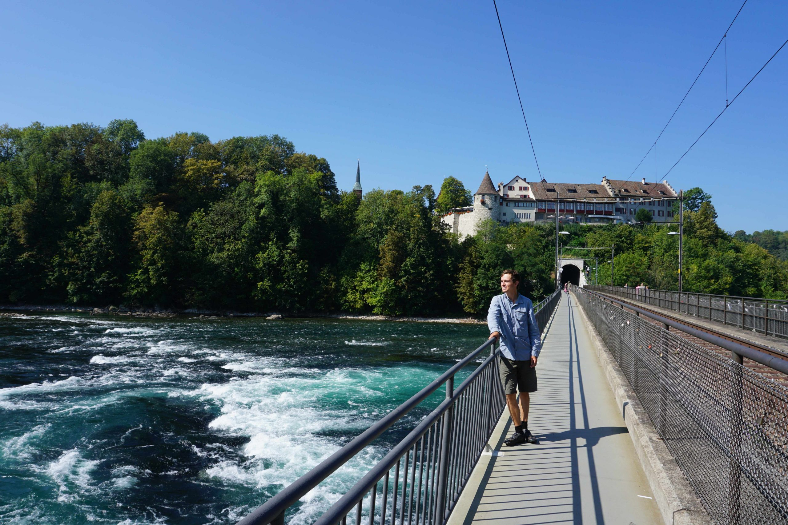 Rheinfall, and cycle touring through Switzerland